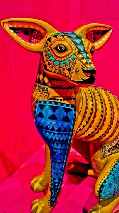 Mexican folk art - alibrije, carved wooden art