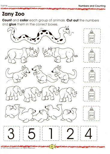 animal number count worksheet 13 preschool number. Black Bedroom Furniture Sets. Home Design Ideas