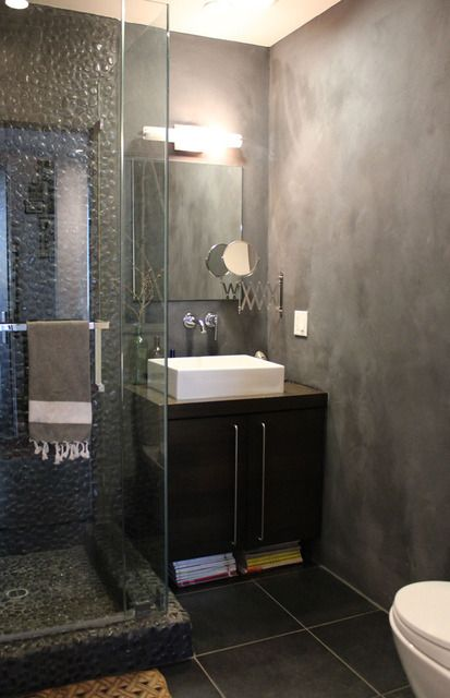 definitely want glass doors for my shower. I can't stand curtains, they're too annoying.