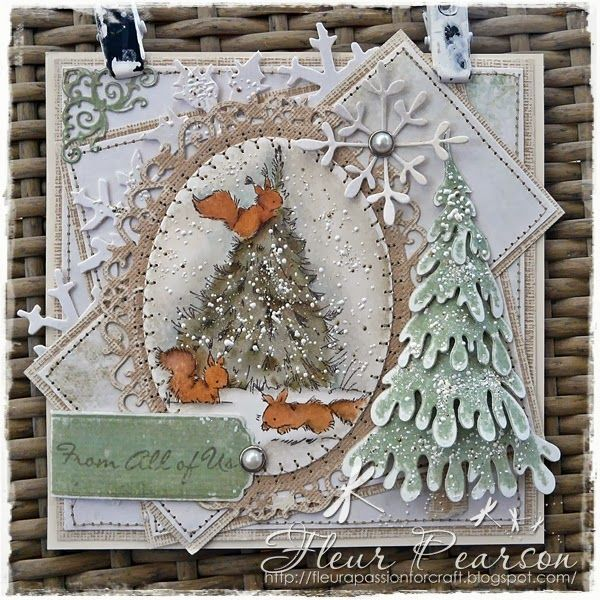A PASSION FOR CRAFT Red Squirrels Christmas Tree