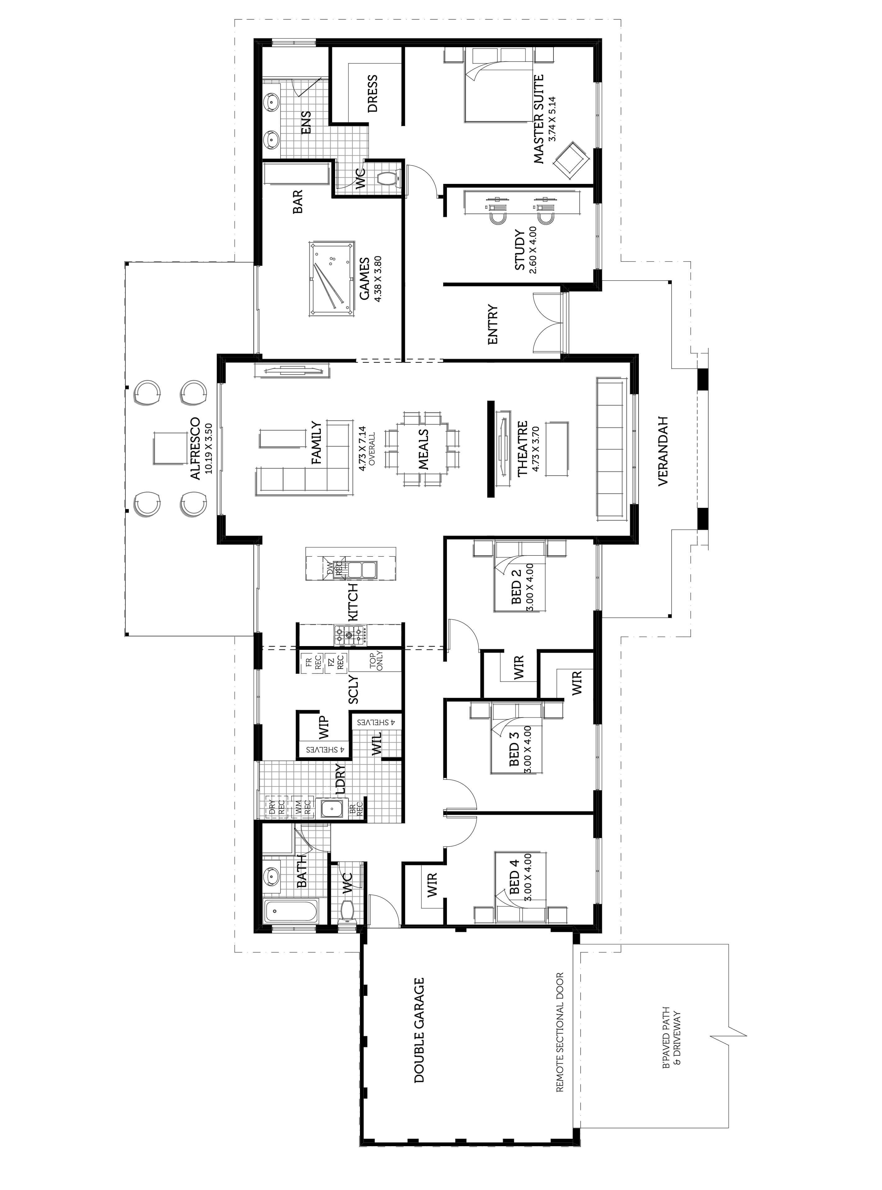 The Matilda Smart Homes For Living Split Level Floor Plans Floor Plans House Design