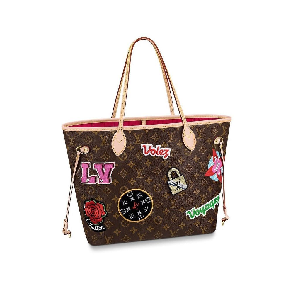 00a681df69 RARE LOUIS VUITTON NEVERFULL MM Patches Stickers Limited Edition ...