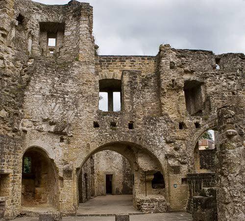 british castle ruins tours | Beaufort Castle Pictures: Ruins inside Beaufort Castle, Luxembourg