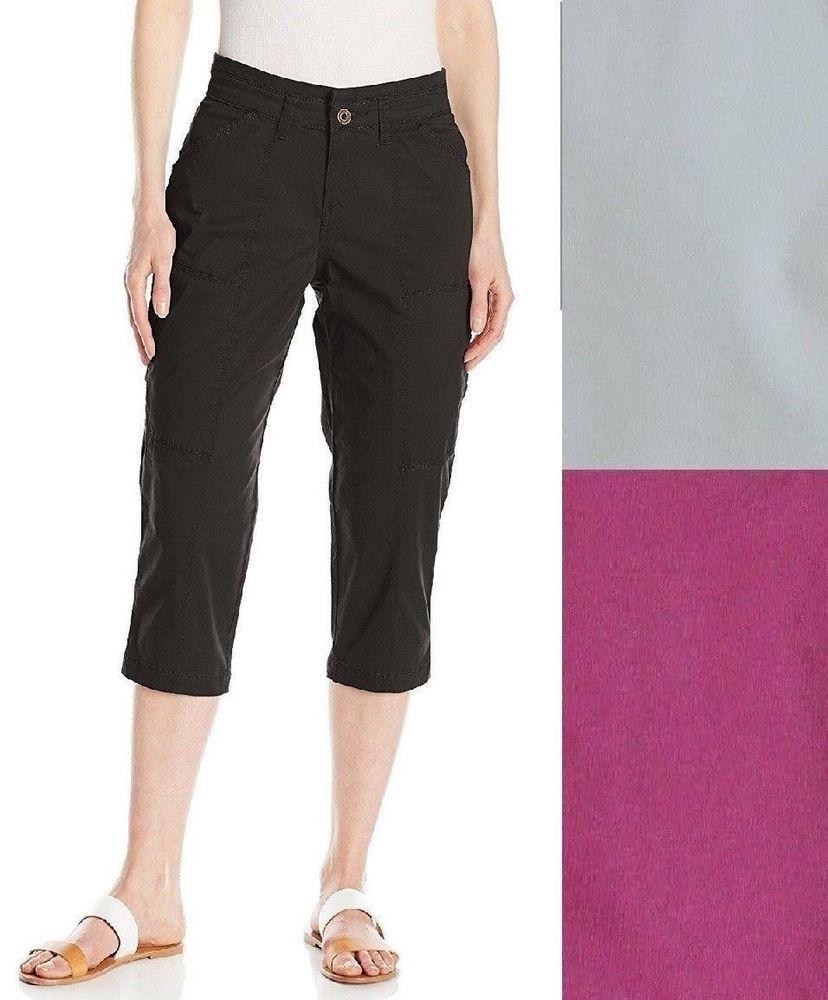 238847ae5a0 Lee Womens Brenna Relaxed Knit Waist Capri Pants Mid Rise 4 10 16 NEW https