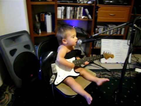 Baby Playing Guitar and Singing - YouTube | Kids | Guitar