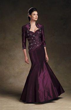 Floor-length Sweetheart Trumpet/ Mermaid Coat/ Jacket Mother's #Dress Style Code: 02480 $129