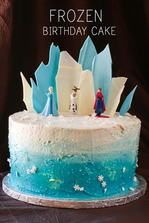 Layer Cake Share Frozen Theme Birthday Cake Ideas With Images