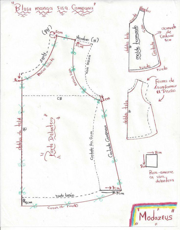 patrones para blusas - Buscar con Google | costura | Pinterest ...