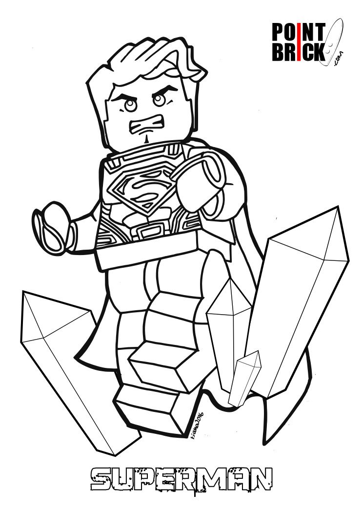 Disegni da Colorare Lego DC: Batman V Superman | Comic stuff ...