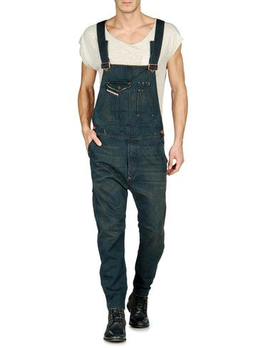 e5924907 classic + distressed overalls from DIESEL - Pants // menswear overall style  + fashion inspiration