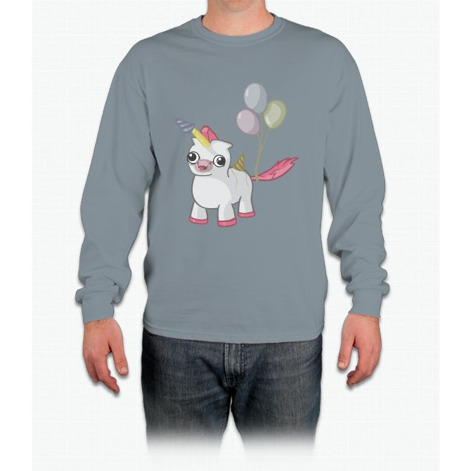 Birthday Tungsten Unicorn Long Sleeve T-Shirt