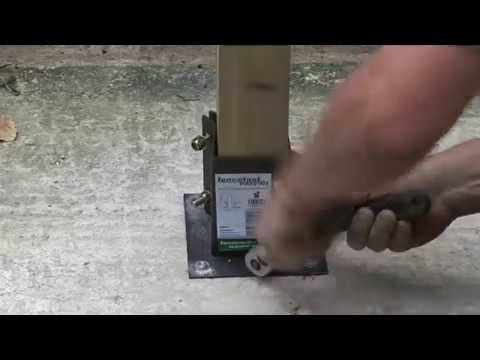 How To Install A Fence Post Onto Concrete Fence Post Concrete Fence Backyard Fence Decor