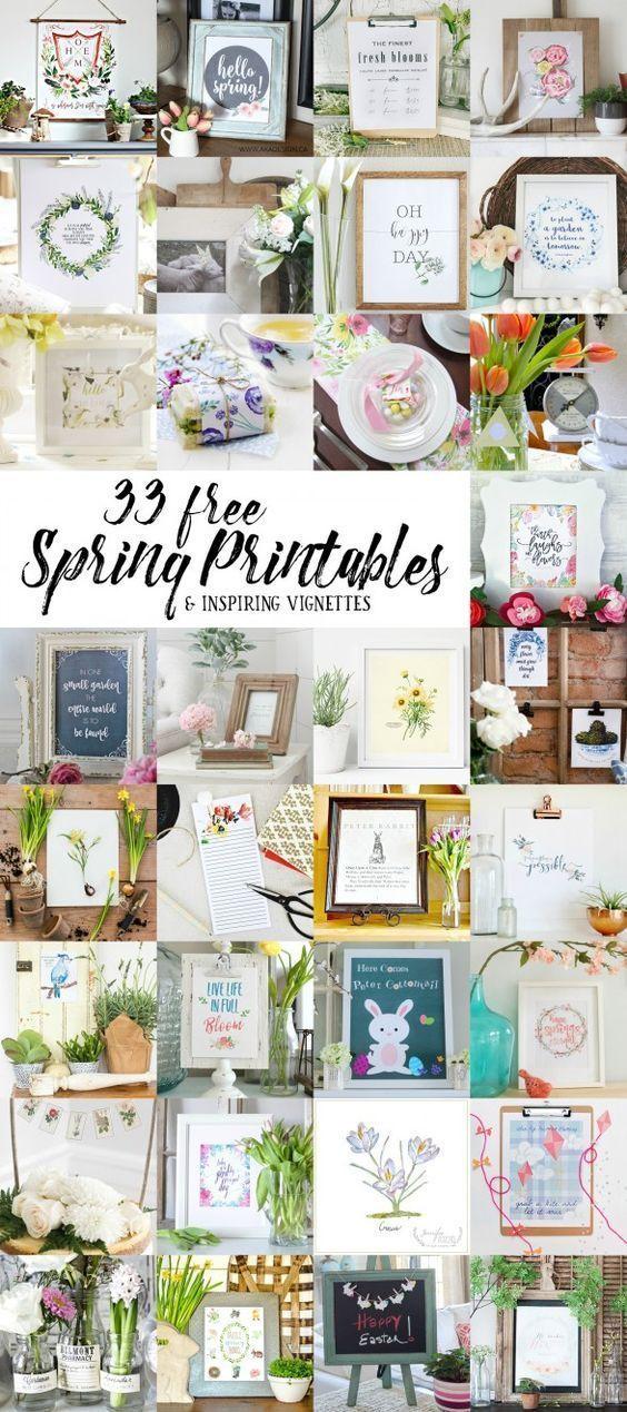 Ideas : 33 free spring printables