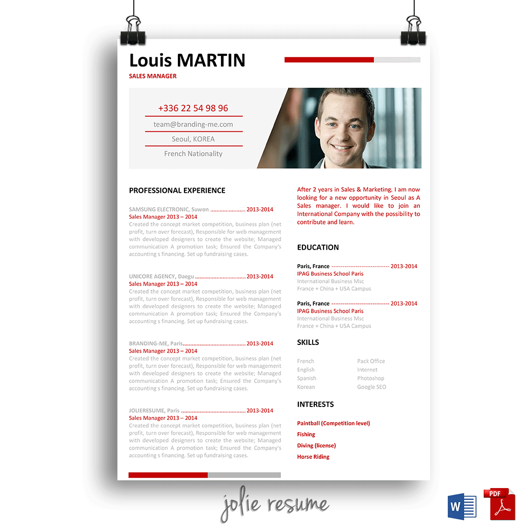 Korean Resume Enjoy My Korean Friend Resume Template Cheap And Easy To Edit