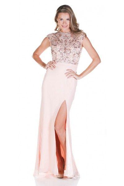 Clarisse 2823 Blushing Belle Evening Gown 110 Rental Blush Pink