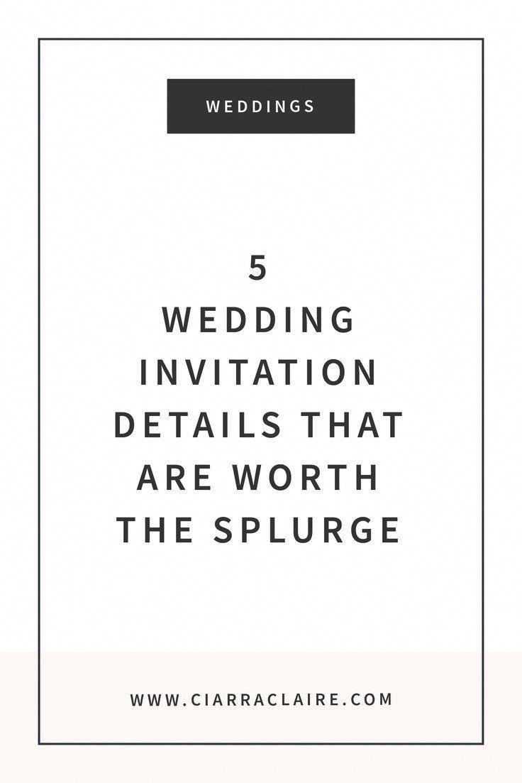 5 Wedding Invitation Details That Are Worth the Splurge