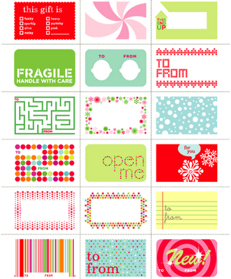 Links to tons & tons of printable gift tags!  Way more than what's in the thumbnail pic. There are some really awesome ones!