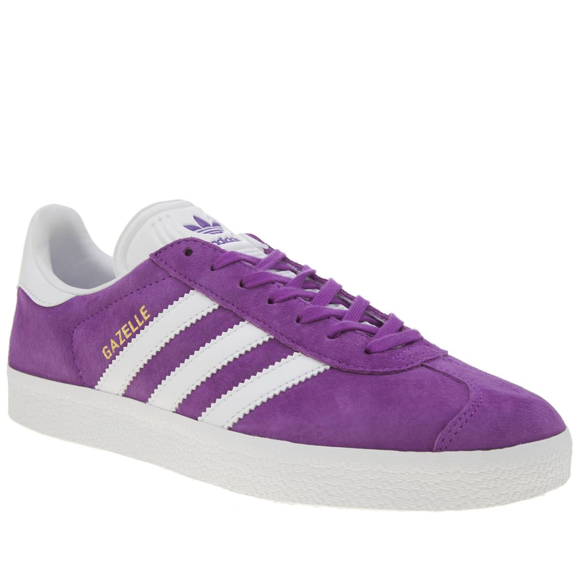 womens adidas purple gazelle suede trainers