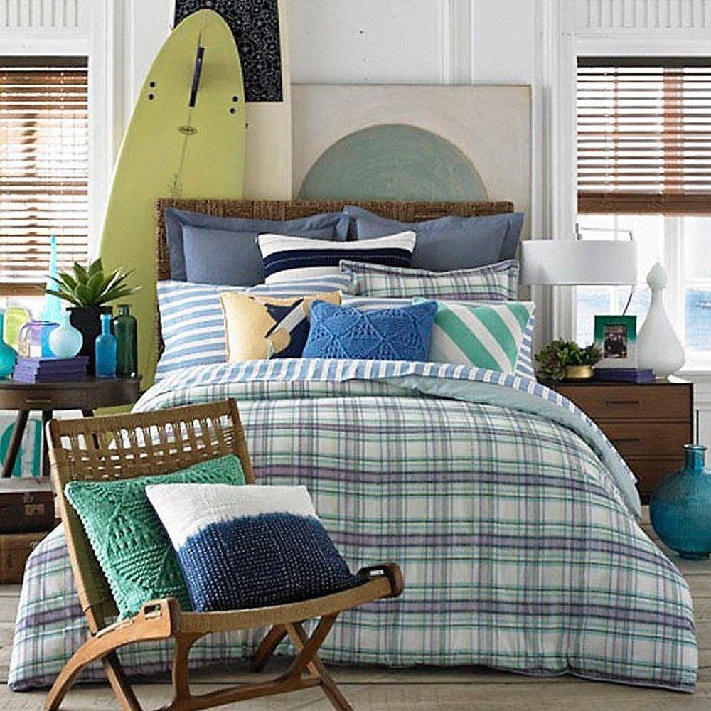tommy hilfiger georgetown plaid comforter set