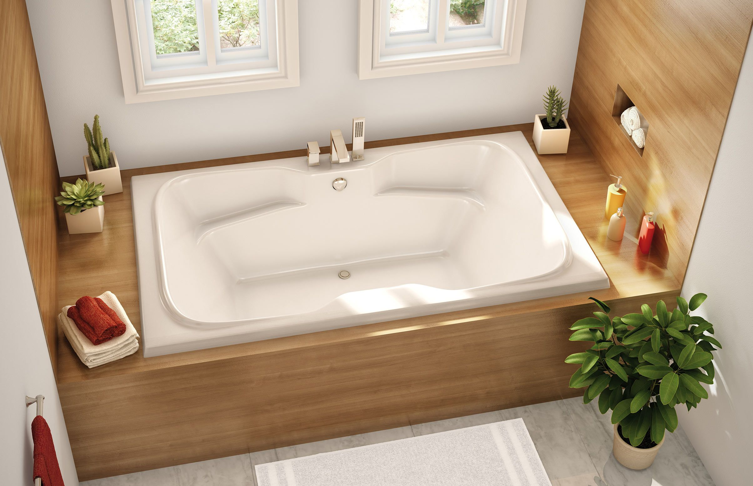 ACHG 4272 Drop In Or Alcove Bathtub   Aker By MAAX (QA)