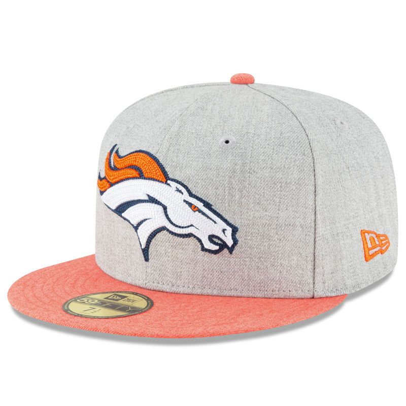 more photos 9b70d 3eead Denver Broncos New Era Crisp 2 59FIFTY Fitted Hat - Heathered Gray