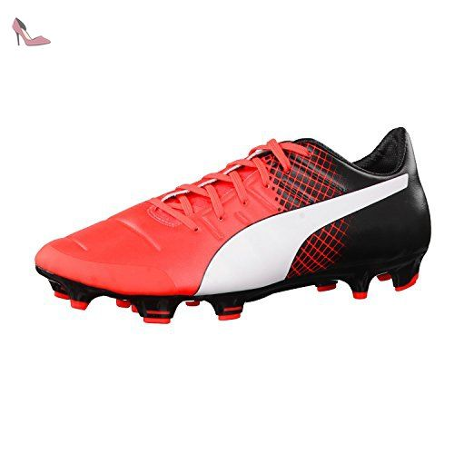 Puma Evopower 1.3 Tricks FG Jr, Chaussures de Football Compétition Mixte Enfant, Rouge (Red Blast White Black 03), 33 EU