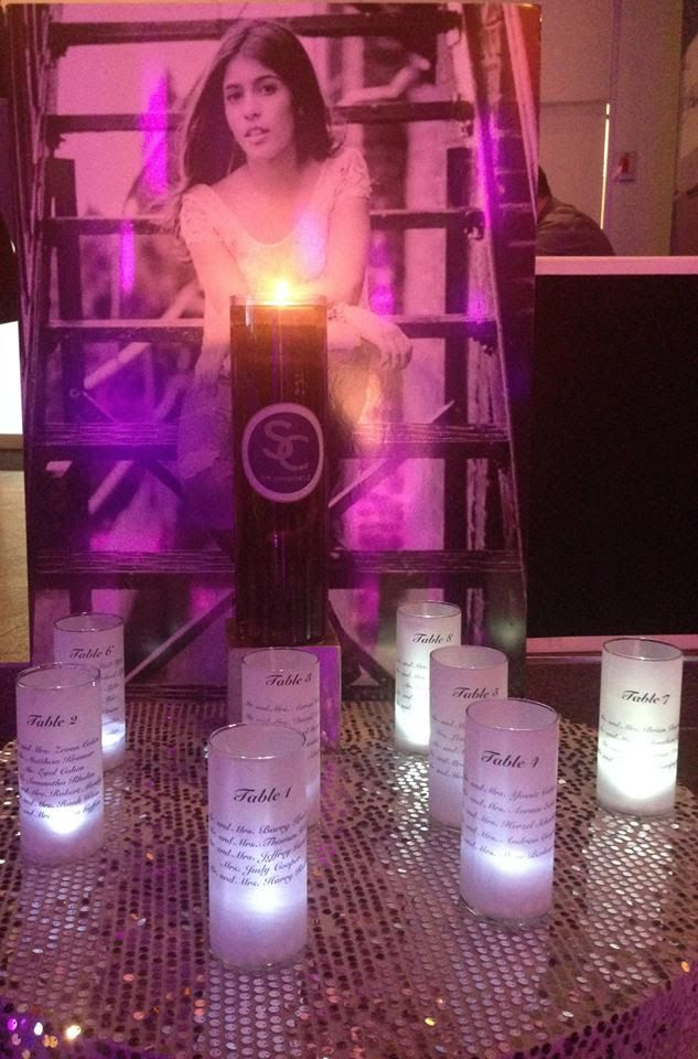 Creative bat mitzvah candle lighting ideas candles used as seating creative bat mitzvah candle lighting ideas candles used as seating chart by flower power designs mazelmoments aloadofball Image collections