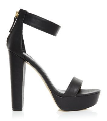 Black Ankle Strap Open Toe Heels on Pinterest | Discover the best ...