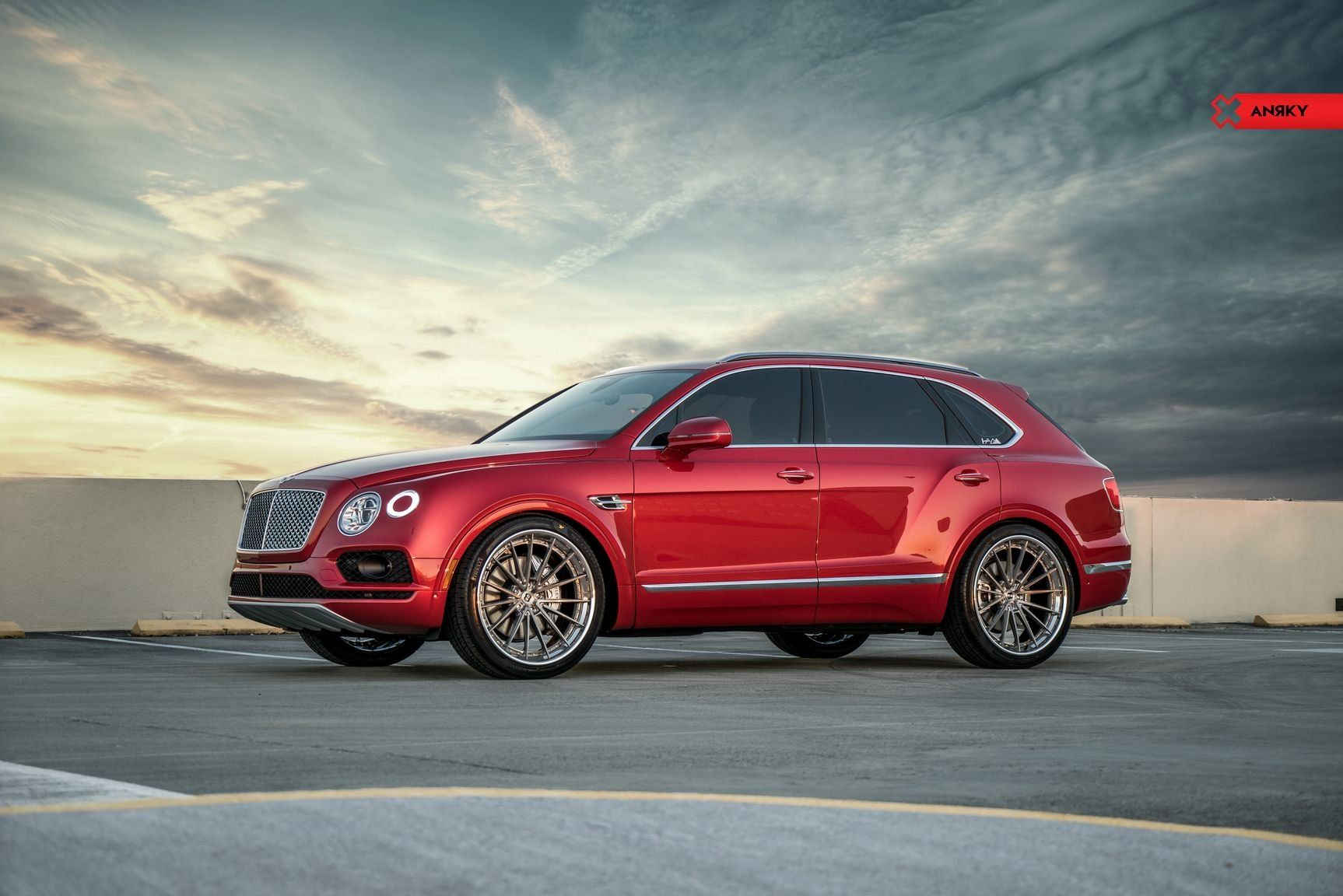 Royal Appearance Of Customized Red Bentley Bentayga New Trucks