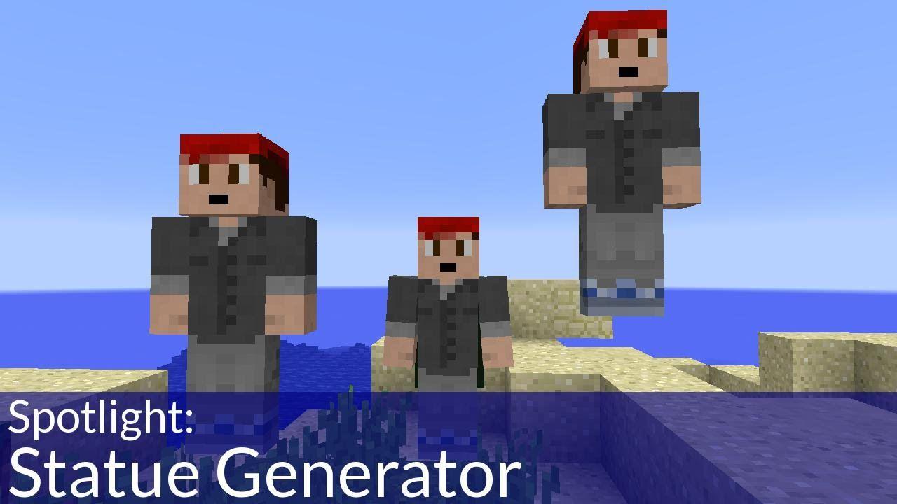 Statue Generator in Vanilla Minecraft | Minecraft | Minecraft videos