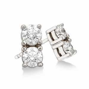 Diamonduo 14kt Two Stone Diamond Earrings 3 8 Ct Tw