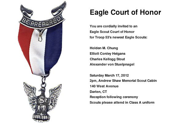 Eagle Ceremony Invitation Template Eagle Court Of Honor You Are