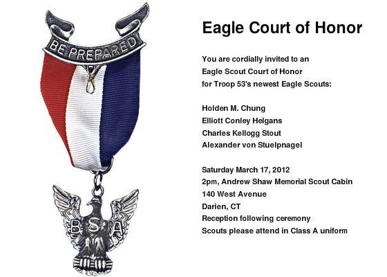 Eagle Ceremony Invitation Template Eagle Court Of Honor