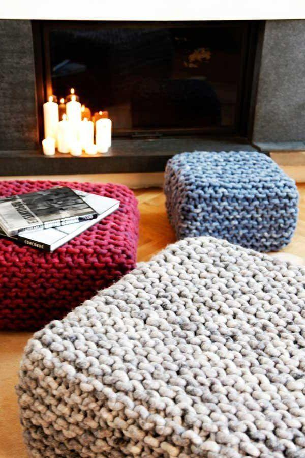 Le pouf au crochet - confort et beauté à la maison - Archzine.fr ...