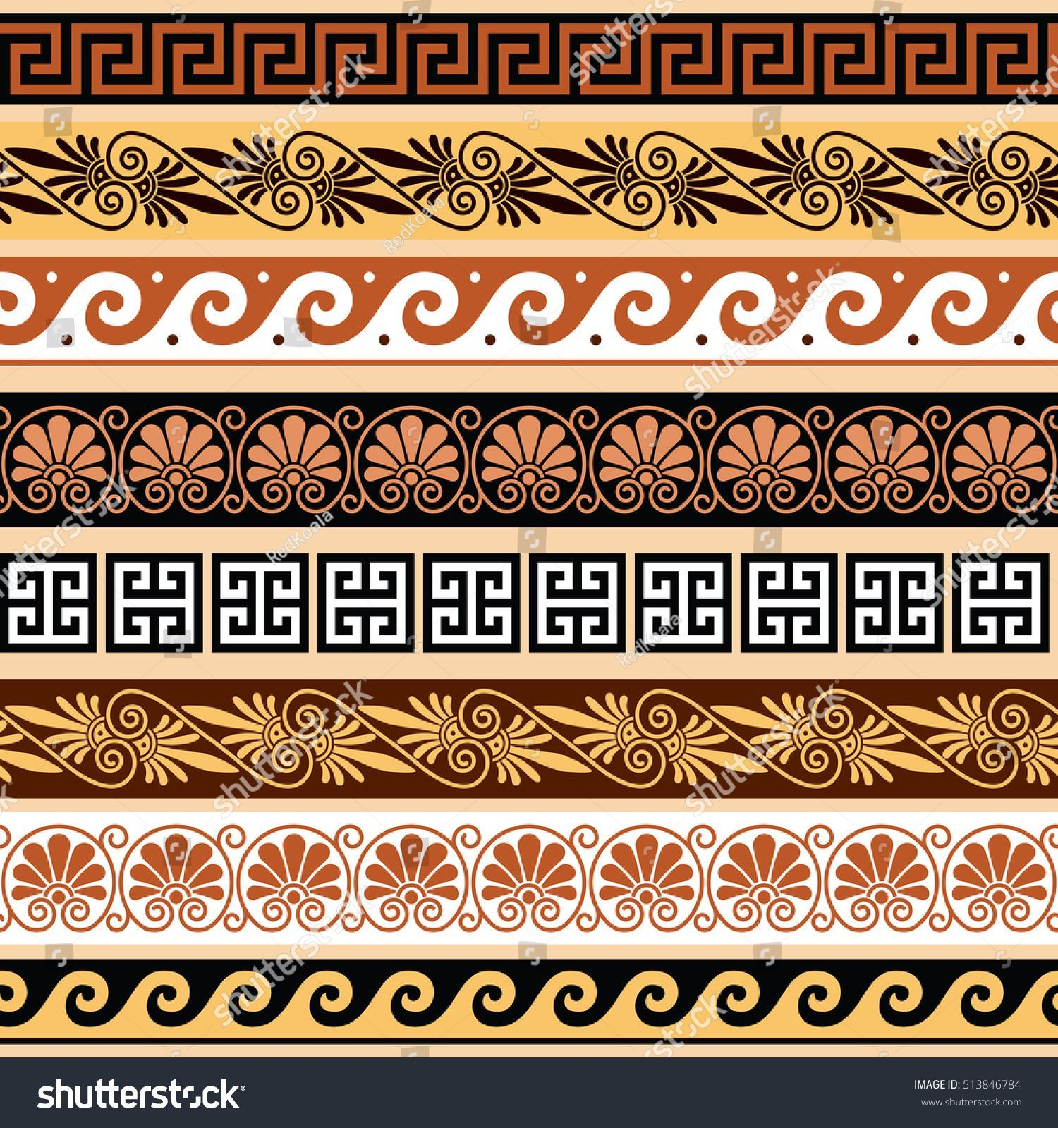 Griechische Muster Vektor Abbildung Illustration 14