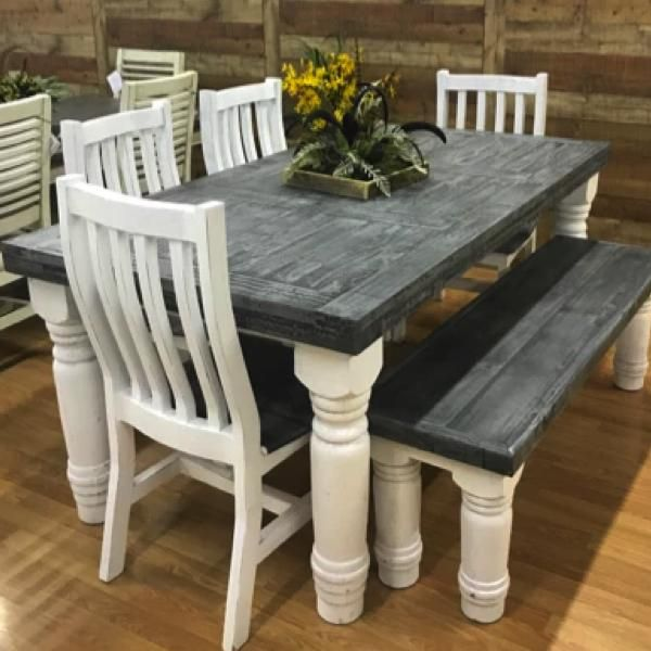 6 Suburban Slate Table Set In 2021 Rustic Farmhouse Table Farmhouse Dining Room Table Painted Kitchen Tables Farmhouse kitchen table and chairs