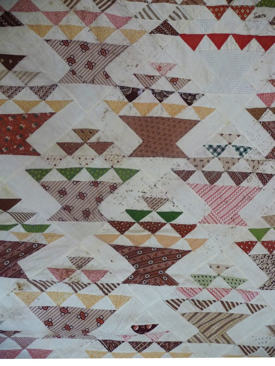 OLD Basket Quilt TOP-19th c Browns!! cutter~I hope not! from cowhollowcollectibles on Ruby Lane
