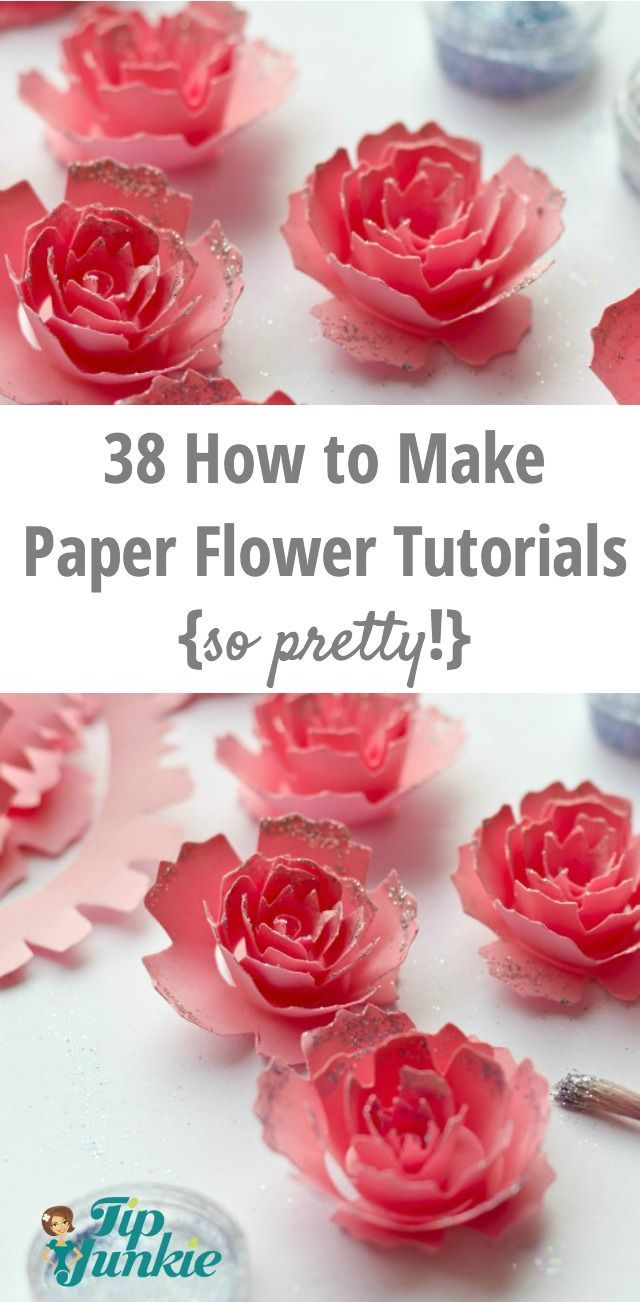 38 How To Make Paper Flower Tutorials So Pretty Pinterest