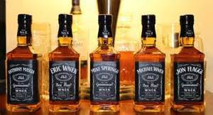 Custom fireball whiskey bottle labels for wedding yahoo image set of 6 groomsman bridesmaid best man jack by studioblabels junglespirit Choice Image