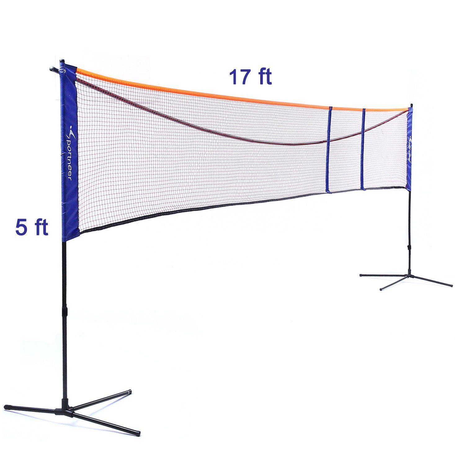 8 Sportneer Badminton Net Stand Set Badminton Nets Soccer Tennis Badminton