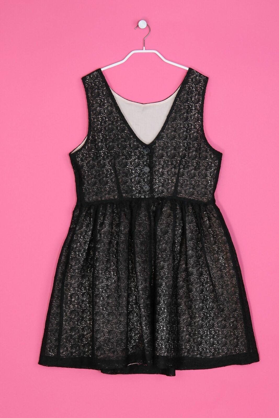 Naf Naf Cocktail-Kleid Lochspitze Damen D 14 elegant festlich