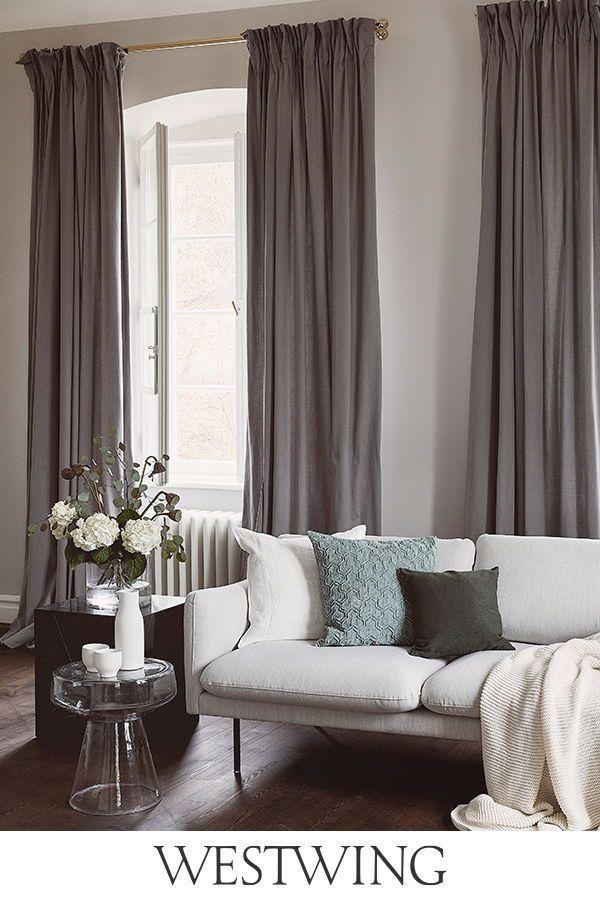 Tende moderne per il soggiorno   Tende per interni, Idee ...