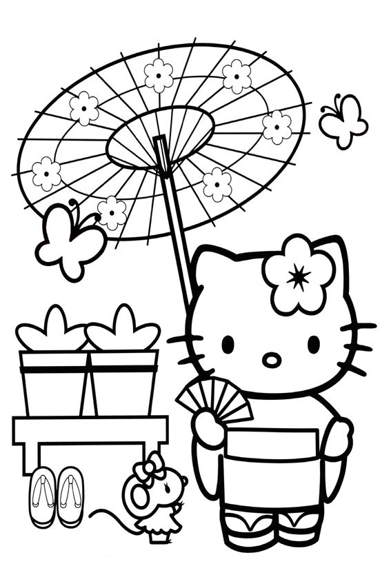 Traveling To Japan Hello Kitty Colouring Pages Hello Kitty Coloring Kitty Coloring
