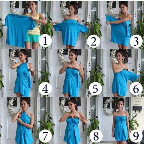 DIY T-shirt dress So simple!