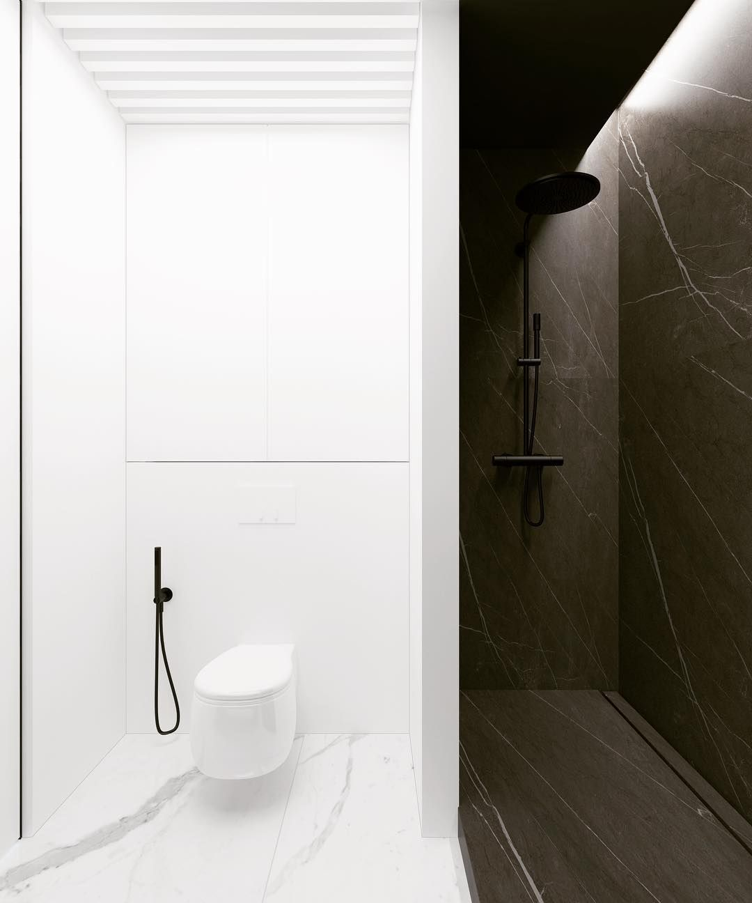 Calacatta Statuario Pietra Grey Porcelain Tile Marble Look