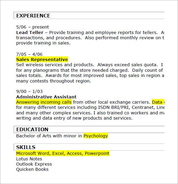 retail resume templets 7 free sles exles format sle templates news