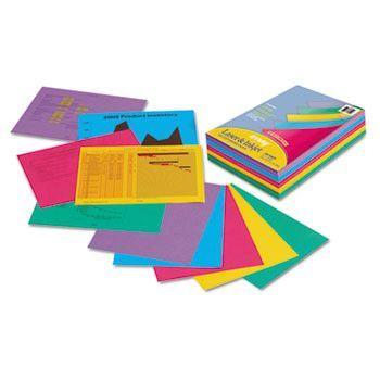 Array Colored Bond Paper, 24lb, 8-1/2 X 11, Assorted Designer Colors, 500/ream