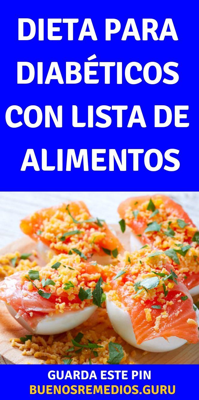 lista de alimentos para la diabetes español