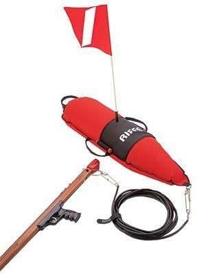 Riffe Float W Diver Down Flag And 50 Float Tube Spearfishing Gear Diving Equipment Diver Down