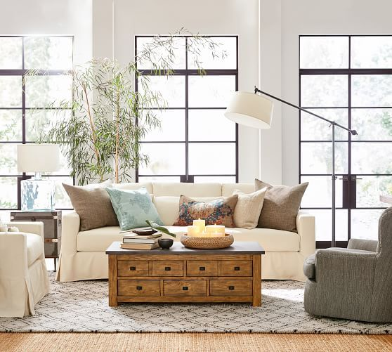 20 Best White Slipcovered Sofas In Every Style | Living Room ...